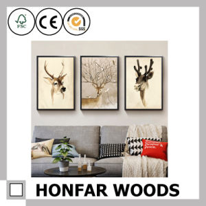 Simplicity Black Wood Solid Wood Picture Frame Painting Frame pictures & photos