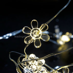Flower Battery Powered String Lights 50LEDs Indoor Decorative Silver Wire Lights for Bedroom pictures & photos