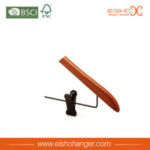 Functional Style Light Wooden Suit Hanger with Metal Clips (MC016) pictures & photos