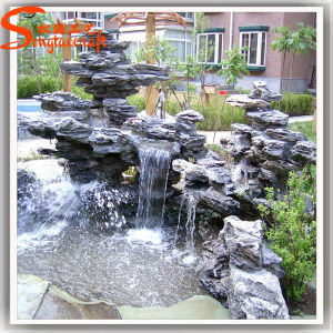 New Design Garden Stone Resin Artificial Rockery Water Fountain pictures & photos