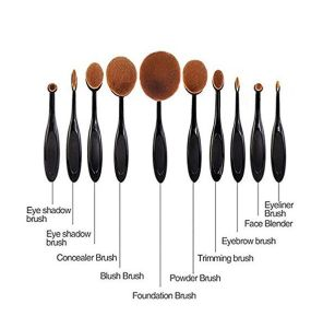 Human Hair Dense Soft Comfortable Makeup Brush Professional Oval Cosmetic Brush pictures & photos