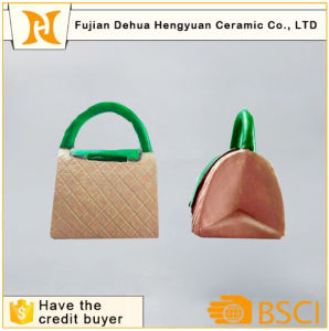 Ceramic Handbag Coin Bank for Home Decoration pictures & photos