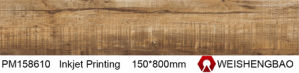 Online Shopping Wood Look Glazed Porcelain Tile pictures & photos