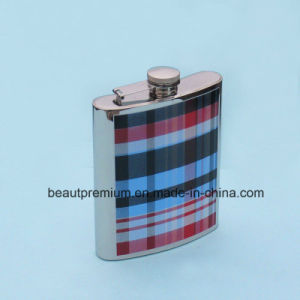 Fashion 6 Ounce Liquor Flask Screen Print Stainless Steel Hip Flask BPS0181
