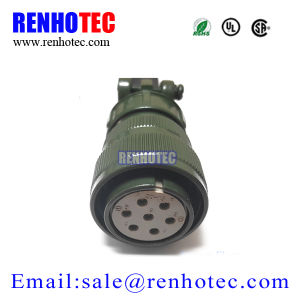 Waterproof Straight Plug 3106 Electronic Military Connector Ms5015 pictures & photos