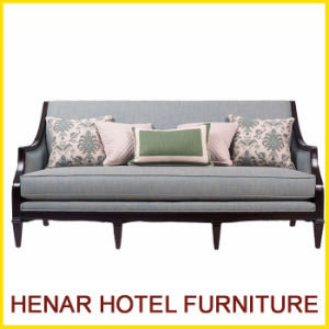 Hospitality Design Wooden Brown Living Room Modern Couch Sofa pictures & photos