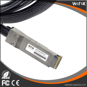 QSFP-4SFP10G-CU1M Compatible 40GBASE-CR4 QSFP to 4 10GBASE-CU DAC Breakout Cable 1M pictures & photos