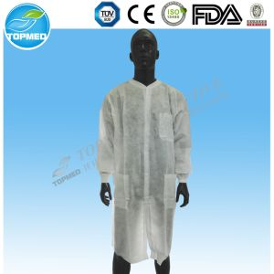 Disposable Doctor Lab Coat/White Lab Coat/Cheap Lab Jackets pictures & photos