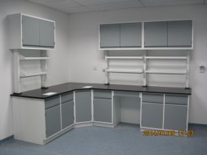 Ce Certificate Steel Lab Furniture with Wall Mounted Cabinet (JH-SL013) pictures & photos