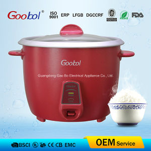 Red Color Painted Outer Shell Full Body Electric Rice Cooker pictures & photos