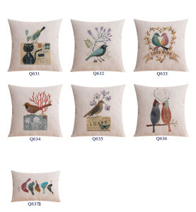 Wholesale Cotton Linen Custom Cushion for Indoor Home Decor Accent pictures & photos