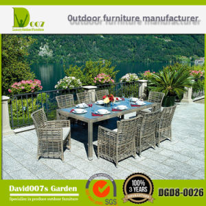 Hot Sales Sectional Outdoor Rattan Garden Furniture Dining Table Set pictures & photos
