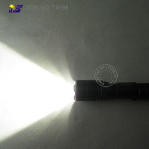 Ultra Power T6 LED Aluminum Adjustable Flashlight with Pocket Clip pictures & photos