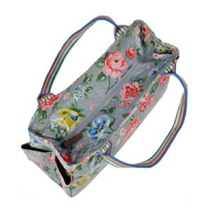 Floral Printing Waterproof PVC Canvas Ladies Bag (99145) pictures & photos