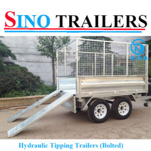 Top Quality Steel Box Trailer with Ramp pictures & photos