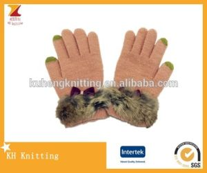 Fashion Knitting Embroider Touch Gloves