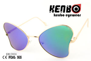 Butterfly Design Frame Km17024 Latest Design Metal Sunglasses pictures & photos
