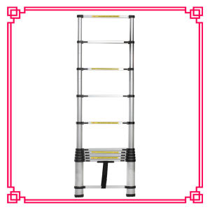Light Weight Wide Step Bamboo Aluminium Ladder pictures & photos