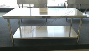 Stainless Steel Work Table with Under Shelf pictures & photos