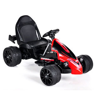 Electric Ride-on Children′s Toy Car- Remote Control Black Kart pictures & photos
