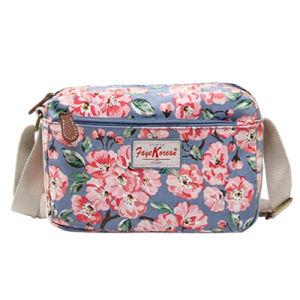 Waterproof PVC Floral Patterns Canvas Shoulder Bag (99032)