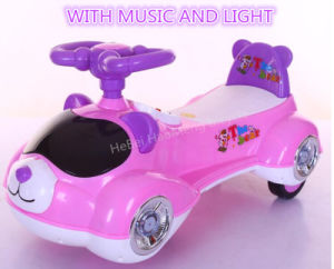 Swing Car Hot Item Cheap Plastic Toy Cars Children Cartoon Toy Car with Music Light pictures & photos