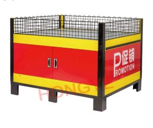 Supermarket Exhibition Stand Promotion Table with Guardrail for Shop/Grocery/Retail (OW-PT1) pictures & photos
