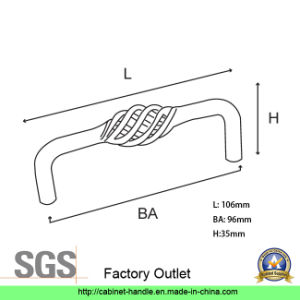 Factory Direct Sale Steel Kitchen Cabinet Furniture Hardware Wardrobe Dresser Drawer Handle (UC 04) pictures & photos