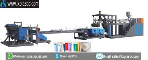 Mono Layer PP PS Sheet-Extrusion-Line with Horizontal Colander for Thin Sheet pictures & photos