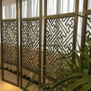 modern Design Laser Cut Partition Screen Restaurant Metal Room Divider pictures & photos
