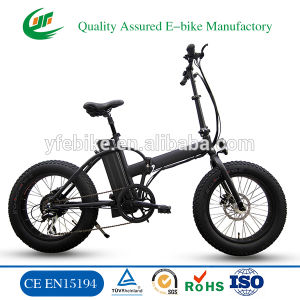 Strong Power Fat Tire 48V 15.6 Ah Lithium Battery Folding Beach Electric Bike pictures & photos