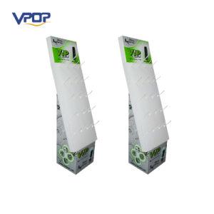 Cardboard Display with Peg Hooks, Retail Cardboard Hook Display