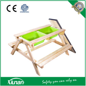 Wooden Kids Picnic Table with Basin Inside pictures & photos