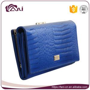 Genuine Leather Ladies Wallet, Crocodile Slim Long Women Wallet pictures & photos