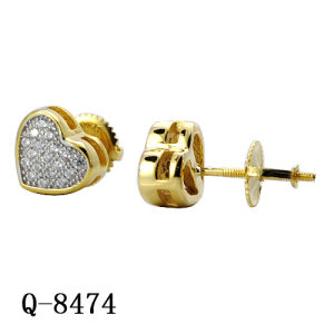 14k Gold Plated Hip Hop Jewelry Diamond Earrings pictures & photos