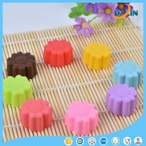 Sunflower Shape Horse Fern Cup Silicone Cake Mold pictures & photos