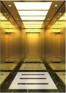 Passenger Lift Passeneger Elevator with Gold Car pictures & photos