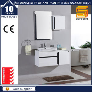 Espresso Gloss Painted Wall Mounted Bathroom Vanity Cabinet pictures & photos