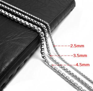 Link Chain Men Necklace Titanium Steel 2.5mm 3.5mm 4.5mm pictures & photos