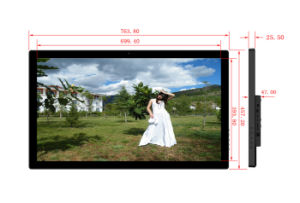 Wide Screen Wall Mount 32 Inch Digital Picture Frame with USB SD Card pictures & photos