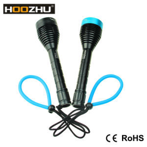 Aluminum Alloy 1000lm Hoozhu Powerful LED Torch Light for Diving