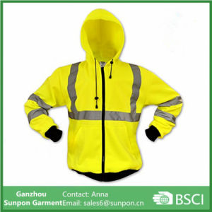 ANSI Safety High Visibility Hoodie Long Sleeve Reflective Jacket pictures & photos