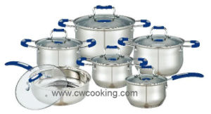 High Class 12PCS Stainless Steel Cookware Set with Silicone Handle pictures & photos