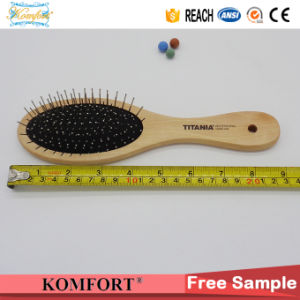 Wooden Detangling Magic Custom Hair Brush Wholesale with Steel Pins pictures & photos