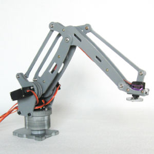 Arduino-Powered Desktop 4-Axis Parallel-Mechanism Laser Cut Acrylic Robot Arm Palletpack Industrial Robot Arm pictures & photos