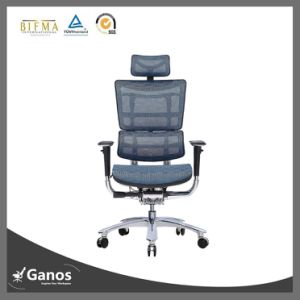 Wholesale Chrome High Back Ergonomic Mesh Office Chair with PU Armrest pictures & photos