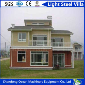 Environment Friendly Light Steel Villa Made of Light Steel Structure with Beautiful Wall Cladding Panel pictures & photos