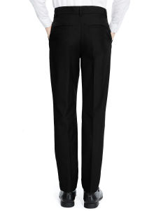 Senior Boys′ Flat Front Skinny Adjustable Waist Trousers pictures & photos