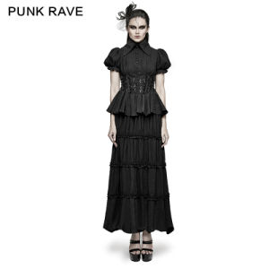 Q-314 Punk Rave Latest Design Two-Piece Noble Splicing Dress pictures & photos