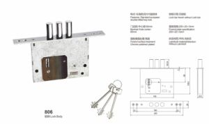 Iron/Zinc Safe Door Lockbody/Security Door Lock (806) pictures & photos